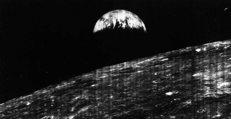 La Tierra vista desde la Luna en 1966