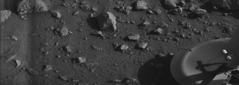Primera foto enviada desde la superficie de Marte